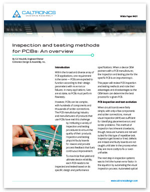 White paper tells you what you need to know about PCB inspection.